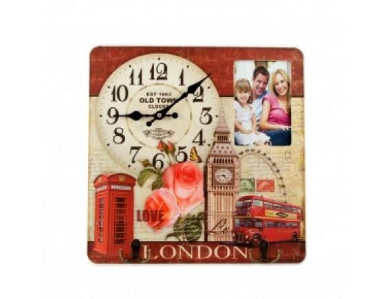"""Коллаж-ключница с часами """"Лондон"""""""