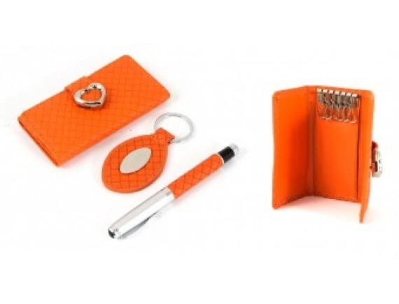 Подарочный набор: ключница, ручка, брелок