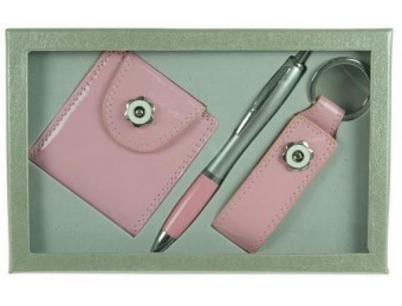 Подарочный набор: зеркало, ручка, брелок