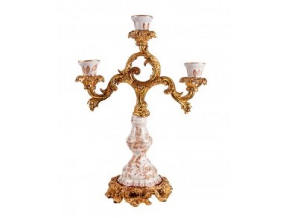 Канделябр на 3 свечи, керамика