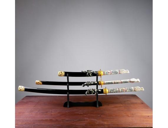 """Набор мечей - катана """"Черный дракон"""" на подставке 60/90/108 см"""