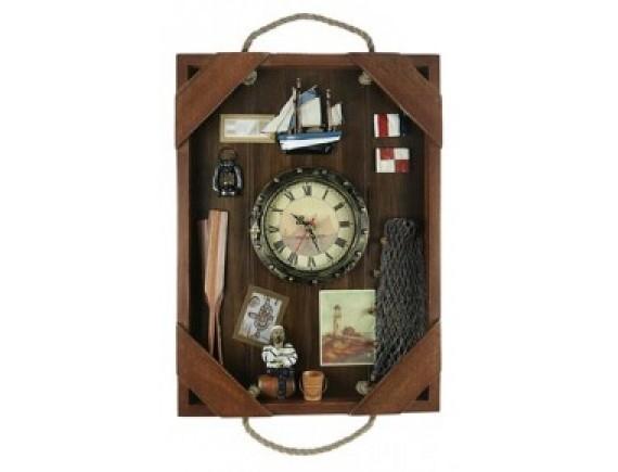 """Коллаж-часы """"Рыбалка"""""""