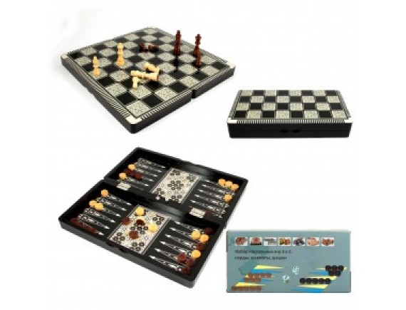 Набор игр: шахматы, нарды, шашки
