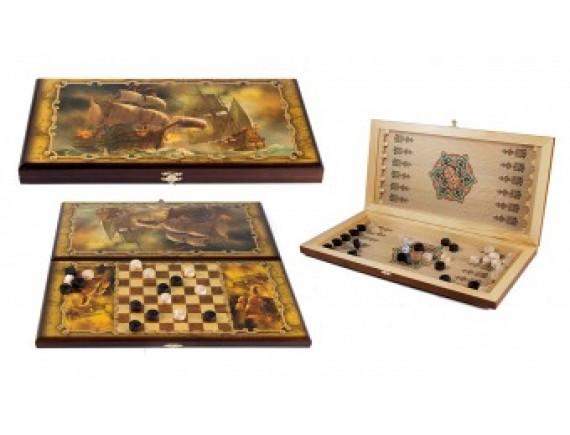 Игра настольная: нарды, шашки
