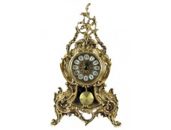 Часы каминные с маятником, бронза