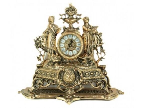 """Часы каминные """"Лесные нимфы"""", бронза"""