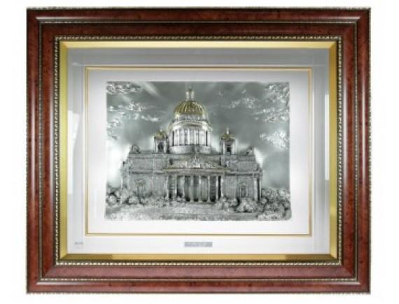 """Картина """"Исакиевский собор"""" с серебряным покрытием"""