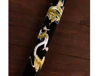 "Меч самурайский - катана ""Зеленый дракон"" на подставке"