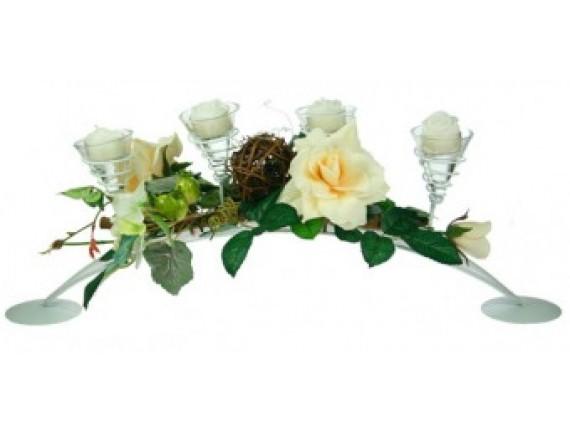 """Подсвечник """"Свадебный"""" на 4 свечи"""