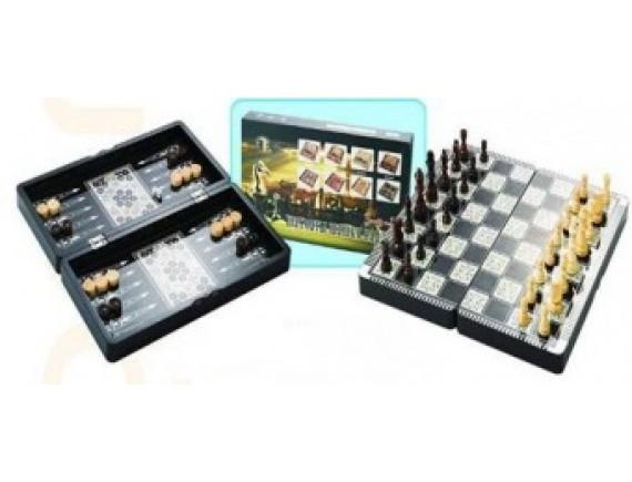 Набор игр 3 в 1: шахматы, нарды, шашки