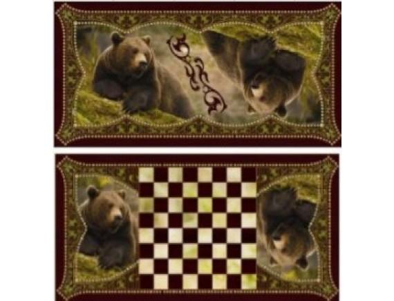 """Игра настольная """"Хозяин тайги"""": нарды, шашки"""
