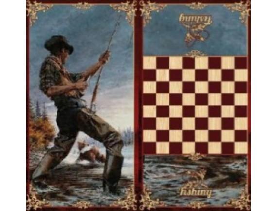 """Игра настольная """"Рыбацкие"""": нарды, шашки"""